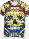 la mode masculine bleuets 3D Print court T-shirt 3006