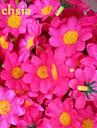 50PCS 4cm 10colors 인공 실크 태양 꽃 데이지 머리 결혼식 생일 파티 장식 테이블 centrepieces을 선호