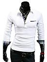 revers de modele coreen personnalite revers manchette mince casual manches longues T-shirt o de lesen hommes