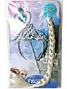 tecknad wand& tiara krona fläta uppsättning
