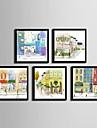 Architecture Toile Encadree Set de Cadres Art mural,PVC Materiel Noir Sans Passepartout Avec Cadre For Decoration d\'interieur Cadre Art
