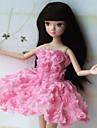 Fest/afton För Barbie Doll Rosa Klänningar För Flicka doll Toy