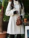 double boutonnage a manches longues elegant manteau blanc