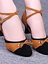 latin kvinnors sandaler låg häl sammet spets-up dansskor (fler färger)