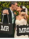 "Wedding Décor ""MR &MRS""  Chair Signs Bride Groom Photo Props"