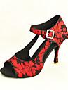 Chaussures de danse (Rouge/Blanc) - Personnalisable - Talon aiguille Danse latine/Salle de bal