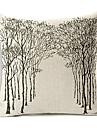 skog mönster lantlig stil bomull / linne dekorativa örngott