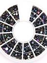 formats mixtes noir ab strass acryliques de cristal de nail art paillete bijoux d\'ongle pour la conception des ongles bricolage