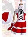 Inspire par Date A Live Kurumi Tokisaki Anime Costumes de cosplay Costumes Cosplay / Robes Mosaique Blanc / Rouge Sans ManchesRobe /