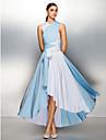 ts couture® abito da sera formale - blocco di colore piu di formato / minuta una linea asimmetrica con jersey