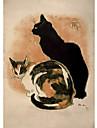 två underbara katter rull skugga
