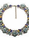moda colier coliere de flori de epocă& pandantive de cristal declarație cravată colier
