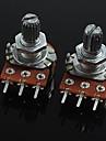 3-polig b100k volymkontroll potentiometer för gitarr / bas (2 st)