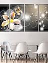 e-Home® blomma klocka i canvas 4st
