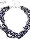 Lureme®Korean Style Black Pearls Short Necklace