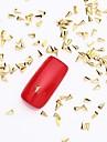 500pcs 3d guld nail art smycken legering slice gyllene stud skinande planet nit för nageldesign och falska naglar