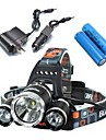 Lights Headlamps / Bike Lights LED 5000 Lumens 4 Mode Cree XM-L T6 18650 Waterproof / Rechargeable / Impact Resistant
