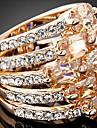 Inele Afirmatoare Zirconiu Zirconiu Cubic Aliaj La modă Declaratie de bijuterii Culoare ecran Bijuterii Petrecere 1 buc