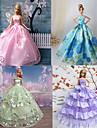 Princesse Robes Pour Poupee Barbie Violet / Bleu Robes Pour Fille de Doll Toy