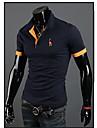 personnalise occasionnel position ajustement col t-shirts jason hommes