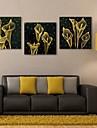 e-Home® allungato portato Tela artistica effetto fiore principale istantanea set di 3