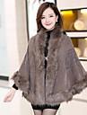 Frauen Revers Mantel Mode faux Pelzmantel (weitere Farben)