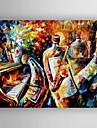 oljemålning modern abstrakt med kniv målning för hand målade med sträckt inramade