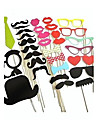 Wedding Décor 32pcs DIY Photo Booth Props Moustaches On A Stick  Party Favor