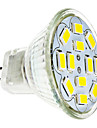 6W GU4(MR11) LED-spotlights 12 SMD 5730 570 lm Varmvit / Kallvit DC 12 V