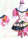Inspirerad av Kärlek Live Kotori Minami anime Cosplay dräkter cosplay Suits Lappverk Rosa Kort ärm Skjorta / Kjol / Huvudbonad