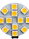1.5W G4 Spot LED 12 SMD 5050 70 lm Blanc Chaud / Blanc Froid AC 12 V 20 pieces