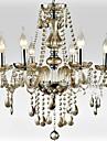 6-Light le style de lustre en verre du palais avec une ampoule de bougie