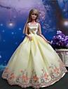 Fete / Soiree Robes Pour Poupee Barbie Jaune Robes Pour Fille de Doll Toy