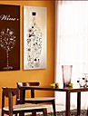 E-HOME® Stretched Canvas Art The Bottles And Glasses Decoration Painting Set of 2