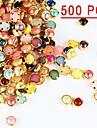 500pcs colores perles metalliques chants Decorations Nail Art