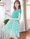 maternitate vară de foraj de moda femeile gravide coreeană cald femei gravide rochie rochie sifon