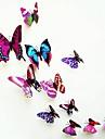 stickers muraux, la vie moderne de la ville pvc stereo papillon pourpre stickers muraux