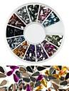 600st 12 färgdroppformad diamant nagel konst dekoration