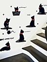 stickers muraux Stickers muraux, chats de bande dessinee jouant muraux PVC autocollants