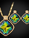 bijoux pour femmes de haute qualite plaque brillant mystique topaze swa strass collier pendentif en pierre en or 18 carats de luxe de fantaisie