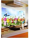 väggdekorationer väggdekaler, kök olje tulpan pvc väggdekorationer
