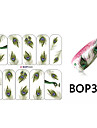 10pcs påfågelfjädrar designen nail art klistermärke bop / 300