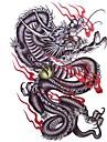 1st vattentät mångfärgade stora färgglada drake mönster tatuering klistermärken