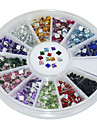 600Pcs 12 Color Square Acrylic Diamond Nail Art  Decoration kits