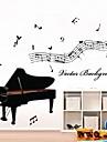 väggdekorationer väggdekaler, piano pvc väggdekorationer