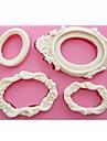 spegelramar formade fondant silikon mögel tvål ljus formar socker hantverk kaka Utsmyckning verktyg sm-249
