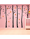 Wall Stickers Wall Decals, 6 Large Tree with Birds Wall Sticker