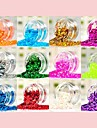 12 Color Fashion Sequin Nall Art  Decoration Kits