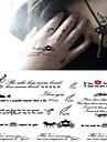 Tatueringsklistermärken - Non Toxic/Ländrygg/Waterproof - Annat - till Barn/Dam/Herr/Vuxen/Tonåring - Svart - Papper - 1 - styck