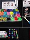 baoguang®fashion metier defini (4200pcs bandes de caoutchouc, 4 clips, 1 paquet metiers, 4 crochets + 1Box)